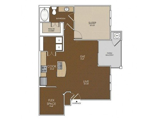 1 Bedroom 1 Bathroom Apartment for rent at Lakeline East Apartments in Cedar Park, TX