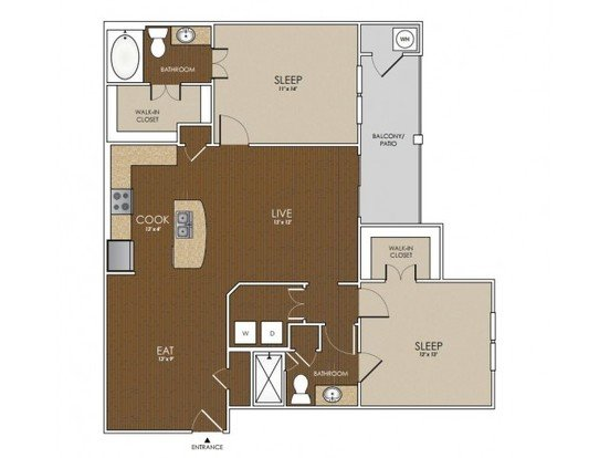 2 Bedrooms 2 Bathrooms Apartment for rent at Lakeline East Apartments in Cedar Park, TX