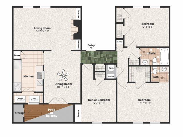 2 Bedrooms 1 Bathroom Apartment for rent at Olde Montgomery in Cincinnati, OH