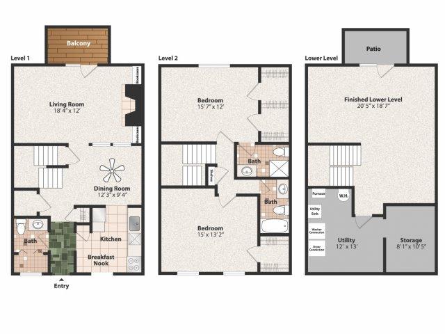 2 Bedrooms 2 Bathrooms Apartment for rent at Olde Montgomery in Cincinnati, OH