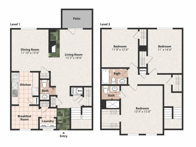 3 Bedrooms 2 Bathrooms Apartment for rent at Olde Montgomery in Cincinnati, OH