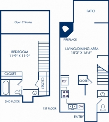 1 Bedroom 1 Bathroom Apartment for rent at Camden Foxcroft in Charlotte, NC