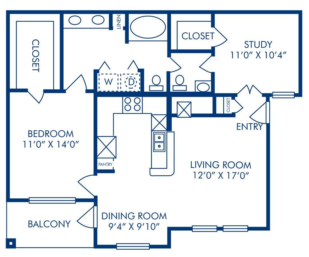 1 Bedroom 1 Bathroom Apartment for rent at Camden Vanderbilt in Houston, TX