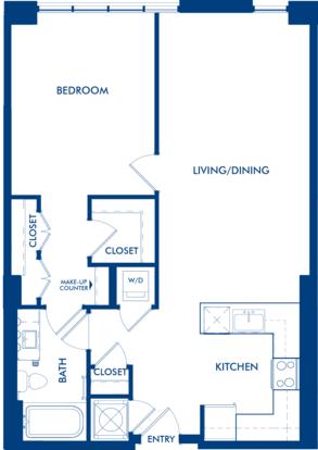 1 Bedroom 1 Bathroom Apartment for rent at Camden Dulles Station in Herndon, VA