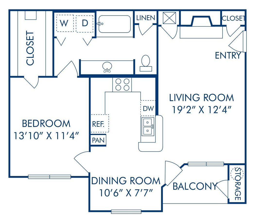 1 Bedroom 1 Bathroom Apartment for rent at Camden Caley in Englewood, CO