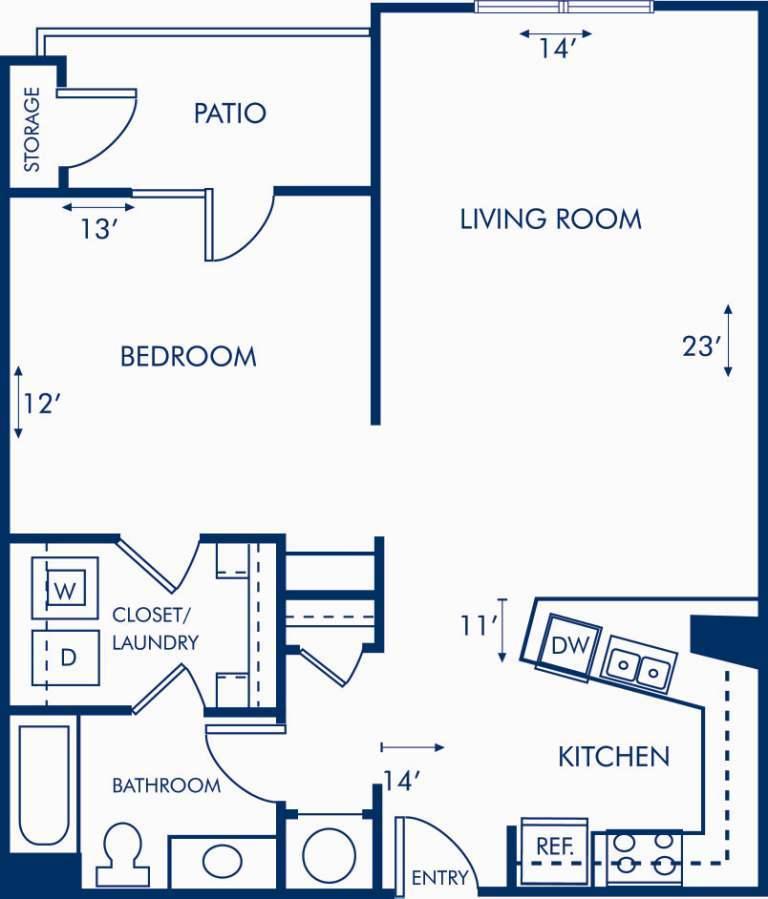 1 Bedroom 1 Bathroom Apartment for rent at Camden Brookwood in Atlanta, GA