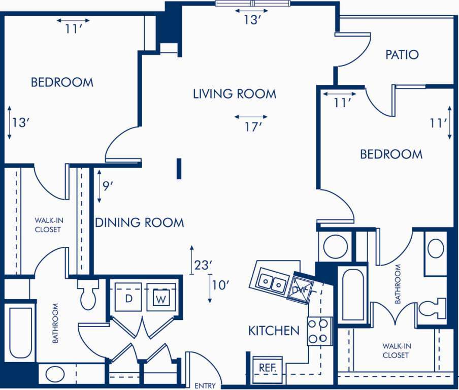 2 Bedrooms 2 Bathrooms Apartment for rent at Camden Brookwood in Atlanta, GA