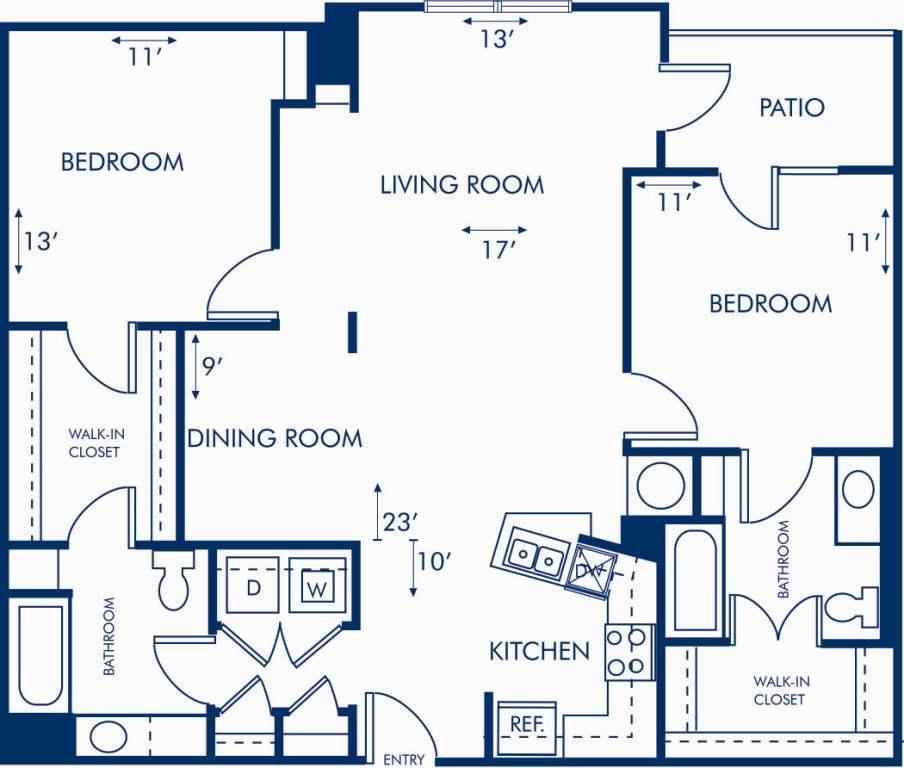 2 Bedrooms 2 Bathrooms Apartment for rent at Camden Brookwood in Atlanta, GA