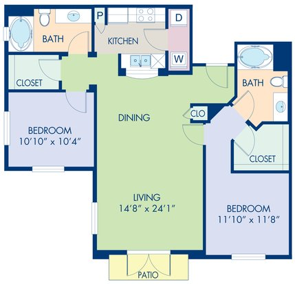 2 Bedrooms 2 Bathrooms Apartment for rent at Camden Harbor View in Long Beach, CA