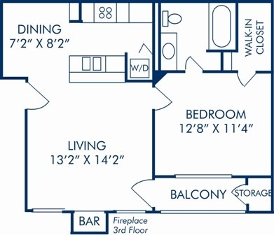 1 Bedroom 1 Bathroom Apartment For Rent At Camden Cimarron In Irving Tx