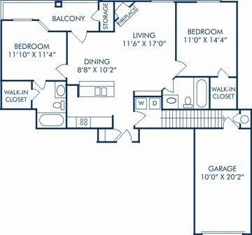 2 Bedrooms 2 Bathrooms Apartment For Rent At Camden Cimarron In Irving Tx
