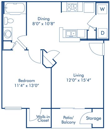 1 Bedroom 1 Bathroom Apartment for rent at Camden Copper Square in Phoenix, AZ