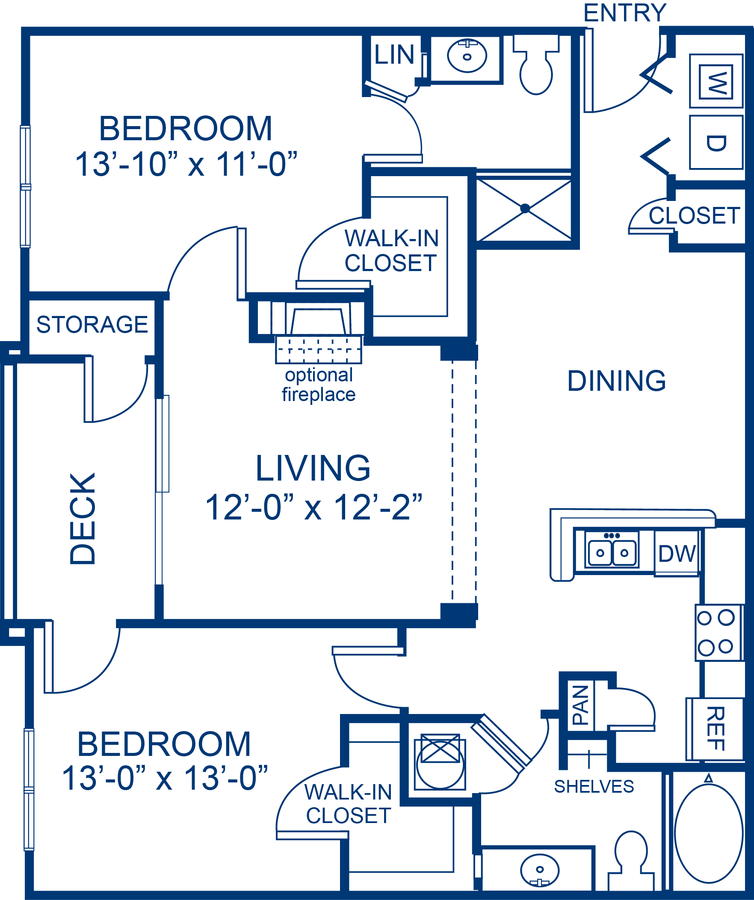 2 Bedrooms 2 Bathrooms Apartment for rent at Camden Crest in Raleigh, NC