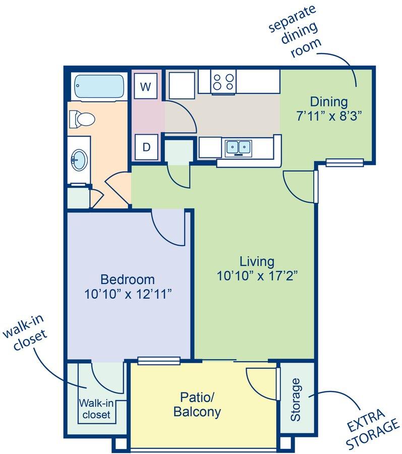 1 Bedroom 1 Bathroom Apartment for rent at Camden Pecos Ranch in Chandler, AZ