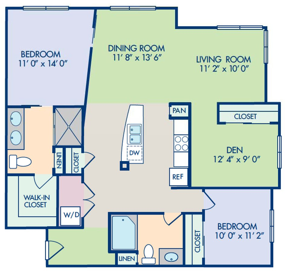 2 Bedrooms 2 Bathrooms Apartment for rent at Camden Main And Jamboree in Irvine, CA
