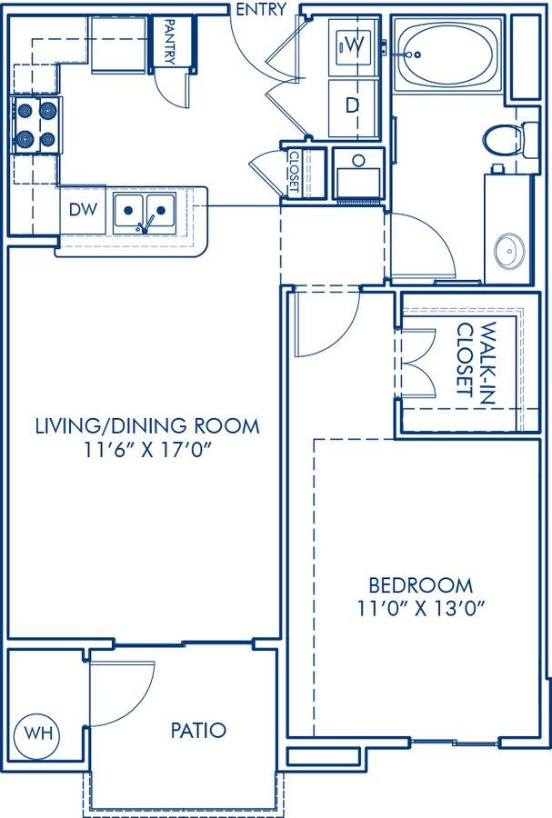 1 Bedroom 1 Bathroom Apartment for rent at Camden Old Creek in San Marcos, CA