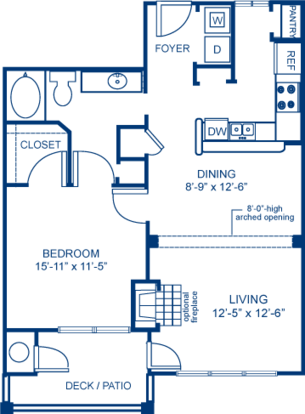 1 Bedroom 1 Bathroom Apartment for rent at Camden Overlook in Raleigh, NC