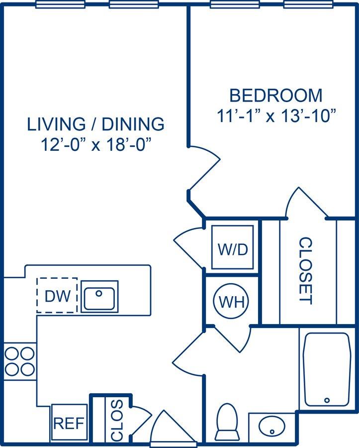 1 Bedroom 1 Bathroom Apartment for rent at Camden Monument Place in Fairfax, VA