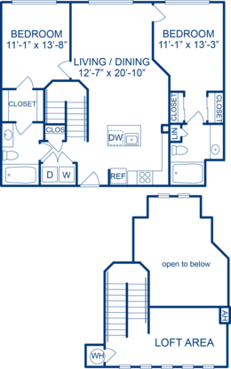 2 Bedrooms 2 Bathrooms Apartment for rent at Camden Monument Place in Fairfax, VA