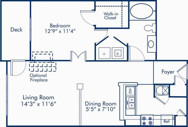 1 Bedroom 1 Bathroom Apartment for rent at Camden Westwood in Morrisville, NC