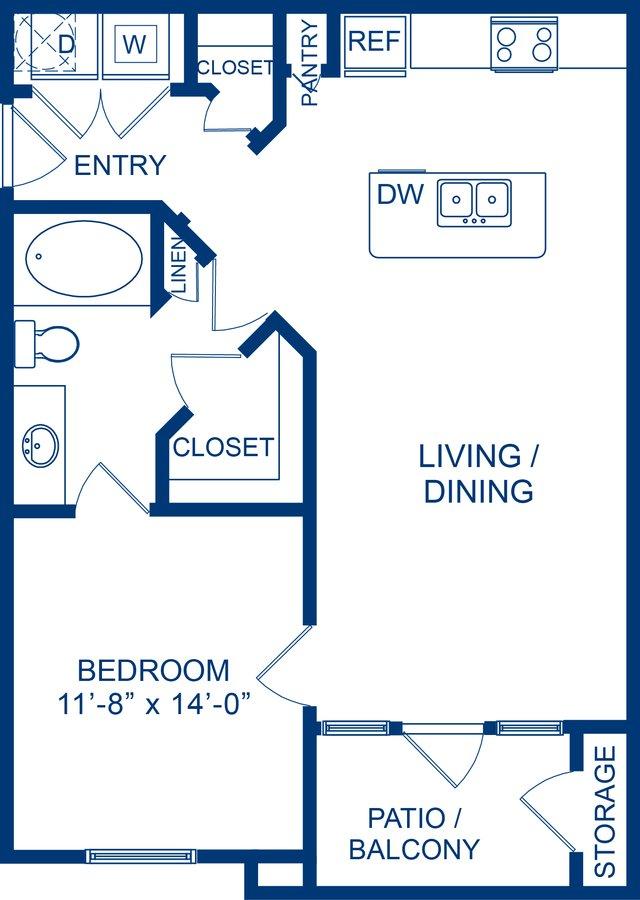 1 Bedroom 1 Bathroom Apartment for rent at Camden Whispering Oaks in Houston, TX