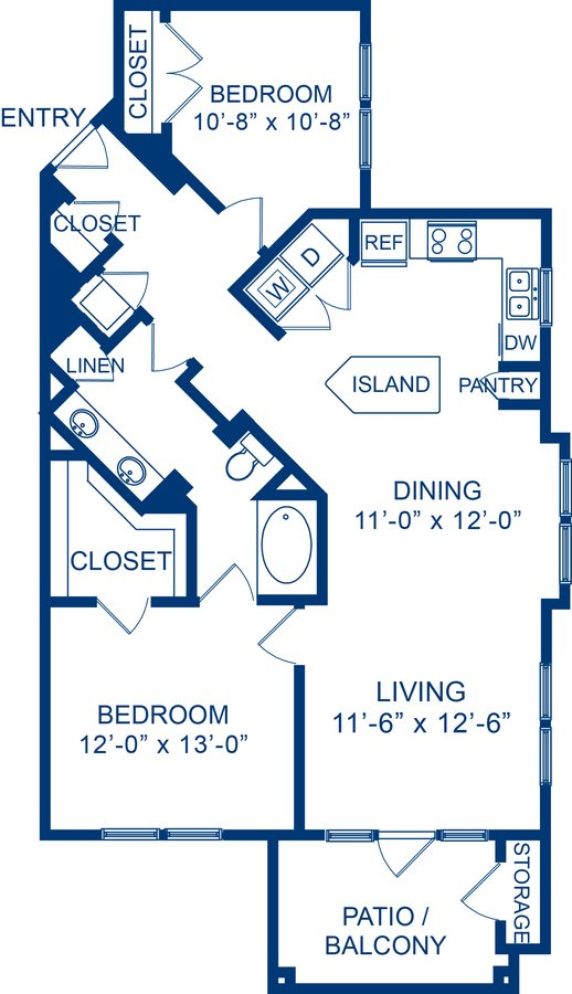 2 Bedrooms 1 Bathroom Apartment for rent at Camden Whispering Oaks in Houston, TX