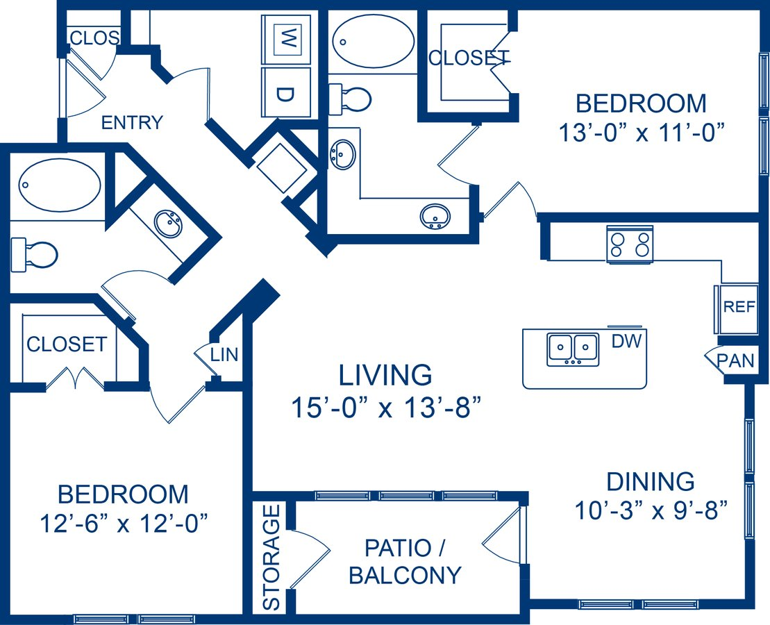 2 Bedrooms 2 Bathrooms Apartment for rent at Camden Whispering Oaks in Houston, TX