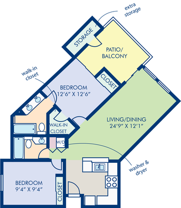 2 Bedrooms 2 Bathrooms Apartment for rent at Camden Sea Palms in Costa Mesa, CA