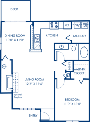 1 Bedroom 1 Bathroom Apartment for rent at Camden Sedgebrook in Huntersville, NC
