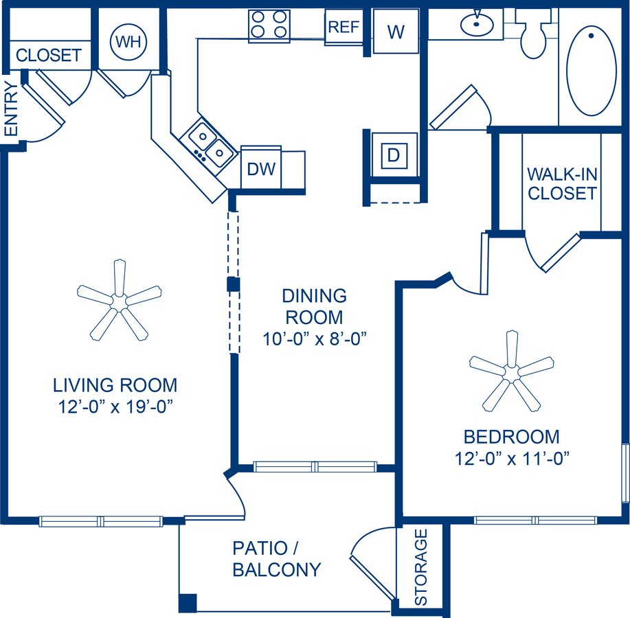 1 Bedroom 1 Bathroom Apartment for rent at Camden Shiloh in Kennesaw, GA