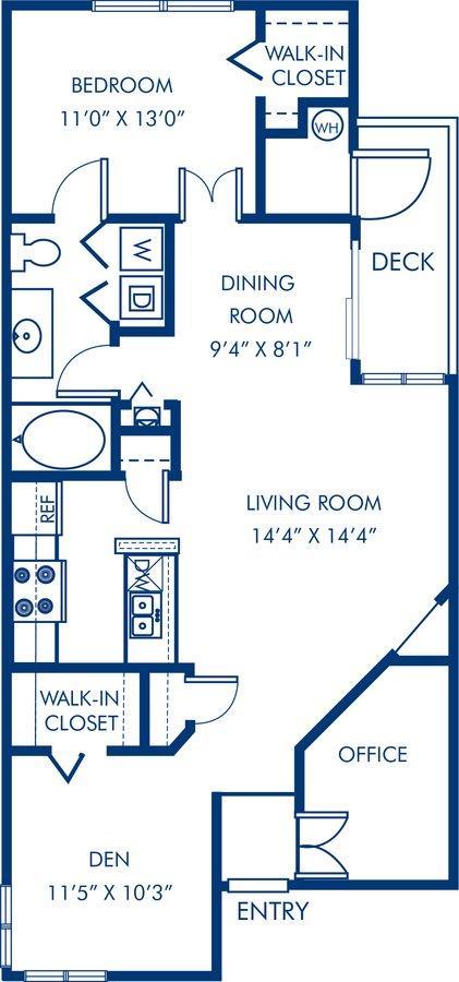 2 Bedrooms 1 Bathroom Apartment for rent at Camden Sedgebrook in Huntersville, NC