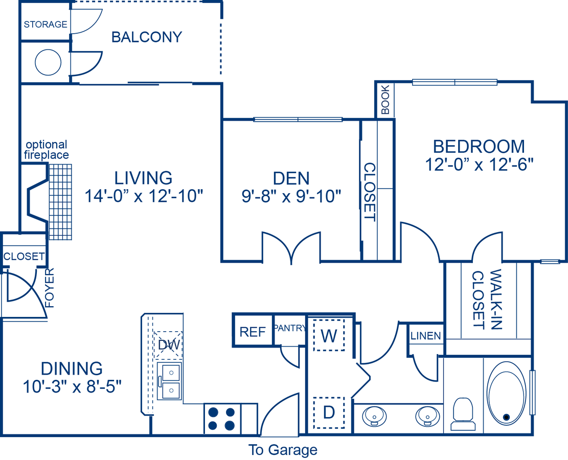 1 Bedroom 1 Bathroom Apartment for rent at Camden Stoneleigh in Austin, TX