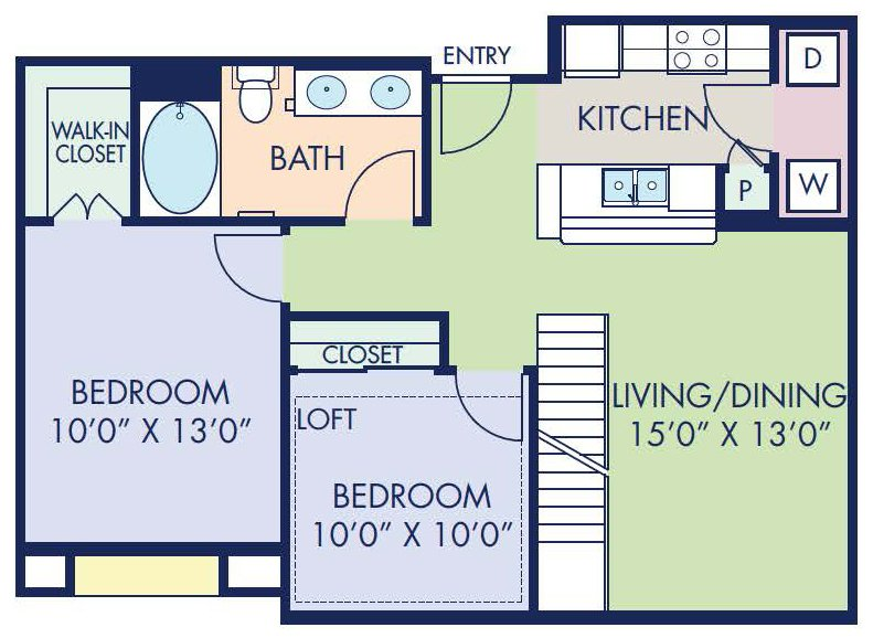 2 Bedrooms 1 Bathroom Apartment for rent at Camden Tuscany in San Diego, CA