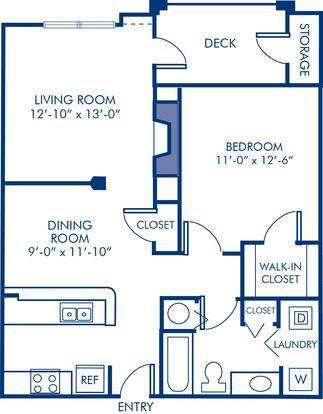 1 Bedroom 1 Bathroom Apartment for rent at Camden Russett in Laurel, MD