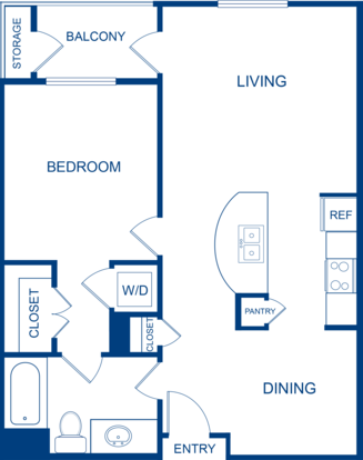 1 Bedroom 1 Bathroom Apartment for rent at Camden Belleview Station in Denver, CO