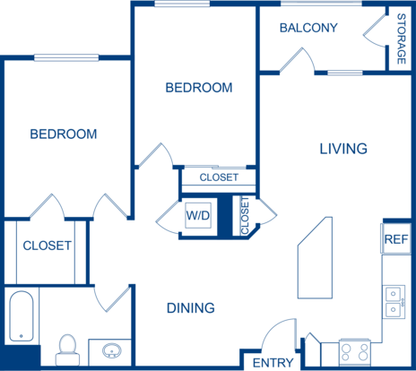 2 Bedrooms 1 Bathroom Apartment for rent at Camden Belleview Station in Denver, CO