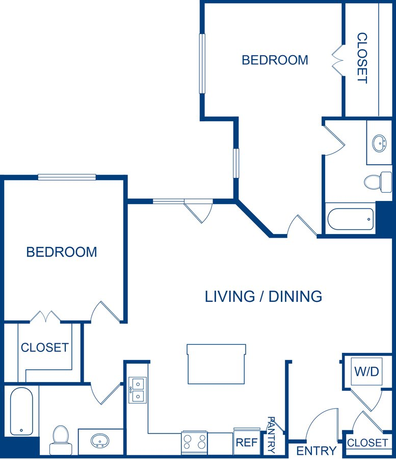 2 Bedrooms 2 Bathrooms Apartment for rent at Camden Belleview Station in Denver, CO