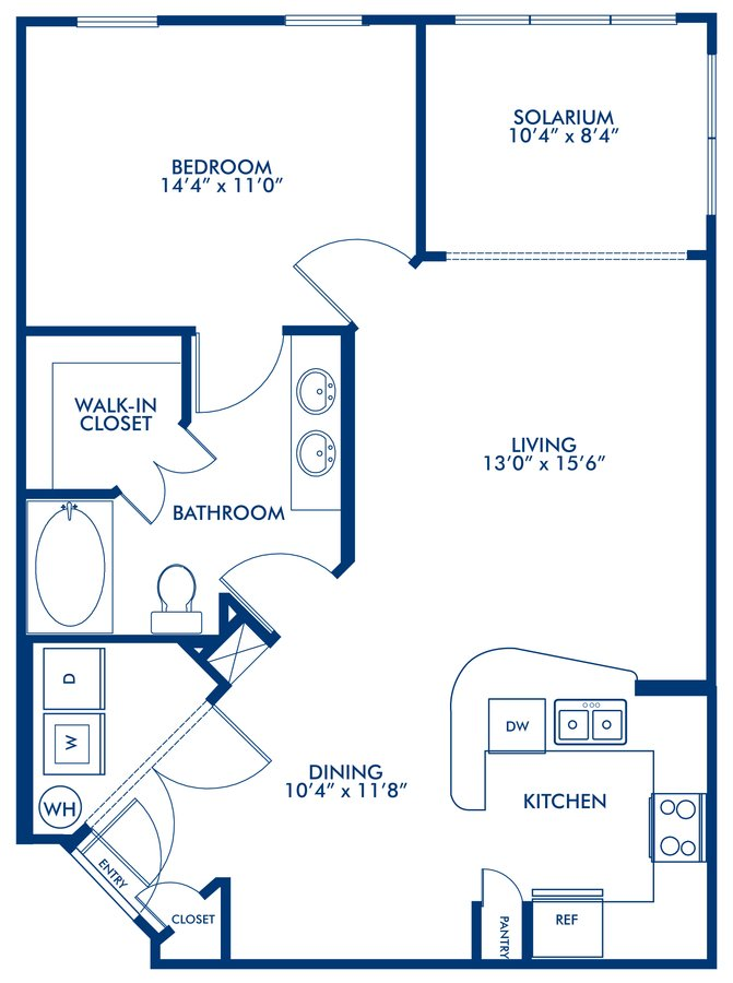 1 Bedroom 1 Bathroom Apartment for rent at Camden Montague in Tampa, FL