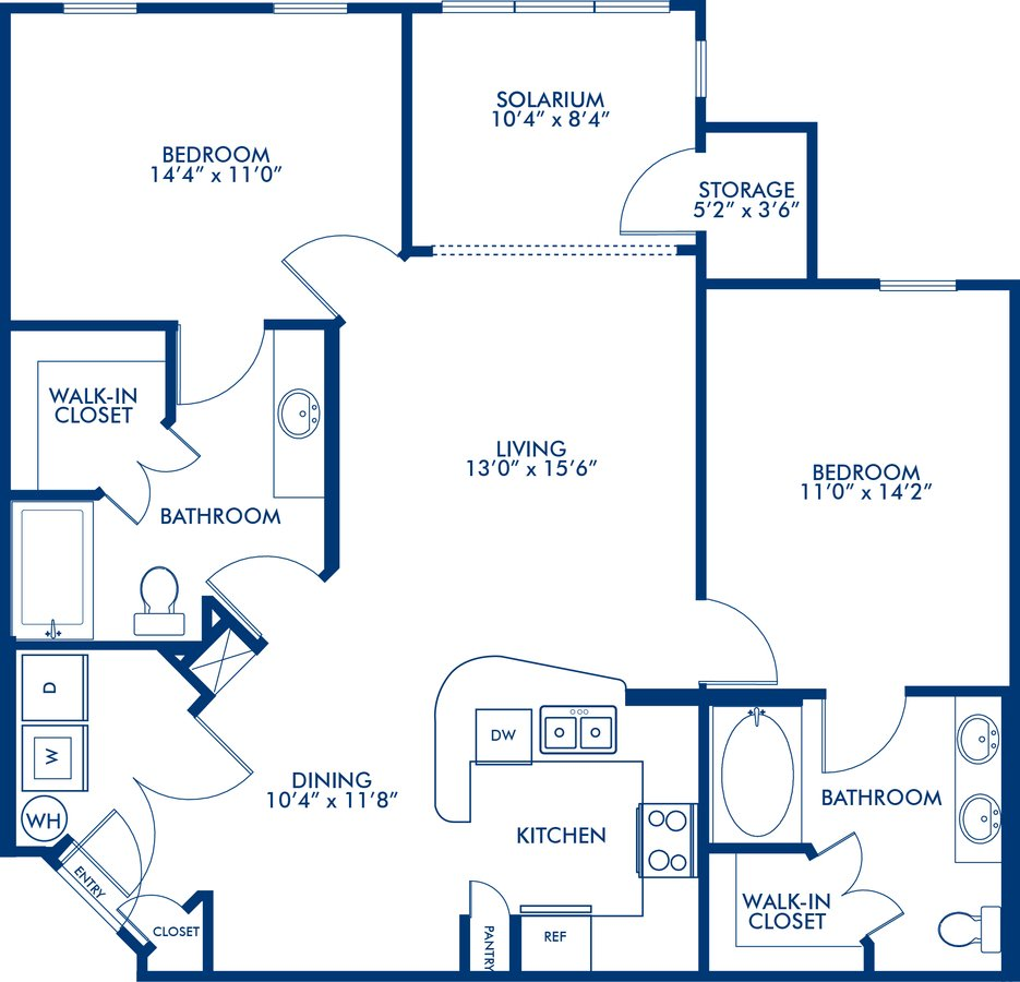 2 Bedrooms 2 Bathrooms Apartment for rent at Camden Montague in Tampa, FL