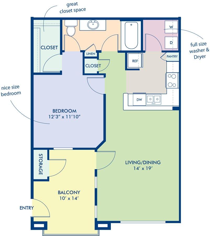 1 Bedroom 1 Bathroom Apartment for rent at Camden Montierra in Scottsdale, AZ