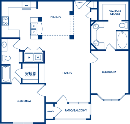 2 Bedrooms 2 Bathrooms Apartment for rent at Camden Phipps in Atlanta, GA