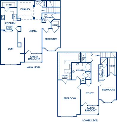 3 Bedrooms 3 Bathrooms Apartment for rent at Camden Phipps in Atlanta, GA