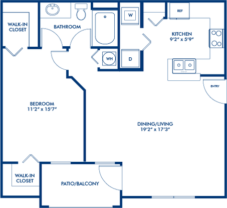 1 Bedroom 1 Bathroom Apartment for rent at Camden Visconti in Tampa, FL