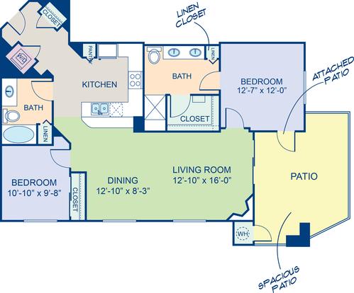 2 Bedrooms 2 Bathrooms Apartment for rent at Camden Sotelo in Tempe, AZ