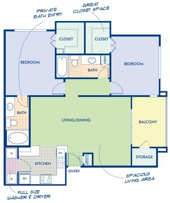 2 Bedrooms 2 Bathrooms Apartment for rent at Camden San Marcos in Scottsdale, AZ