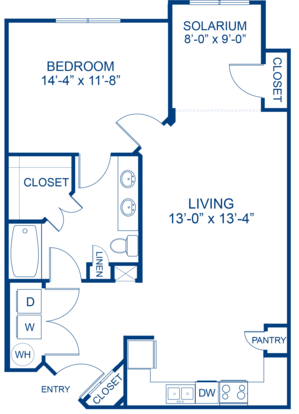 1 Bedroom 1 Bathroom Apartment for rent at Camden Waterford Lakes in Orlando, FL