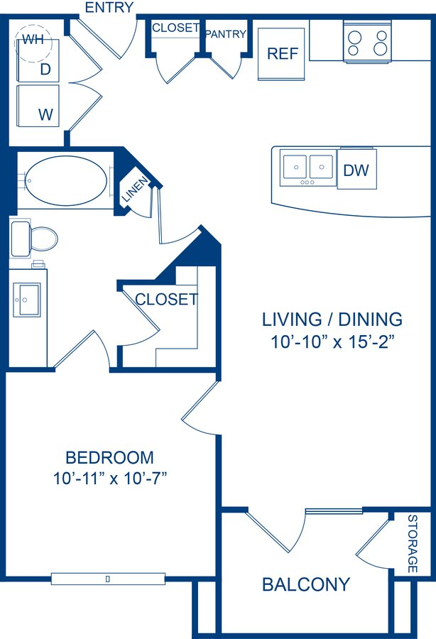 1 Bedroom 1 Bathroom Apartment for rent at Camden Lamar Heights in Austin, TX