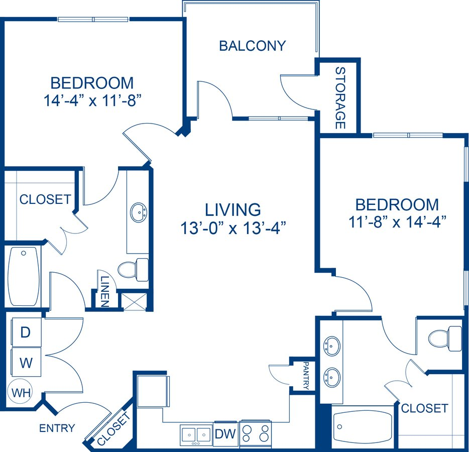 2 Bedrooms 2 Bathrooms Apartment for rent at Camden Waterford Lakes in Orlando, FL