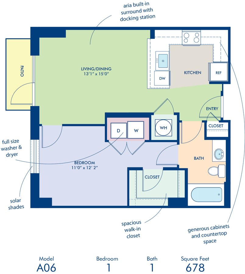 1 Bedroom 1 Bathroom Apartment for rent at Camden South Capitol in Washington, DC