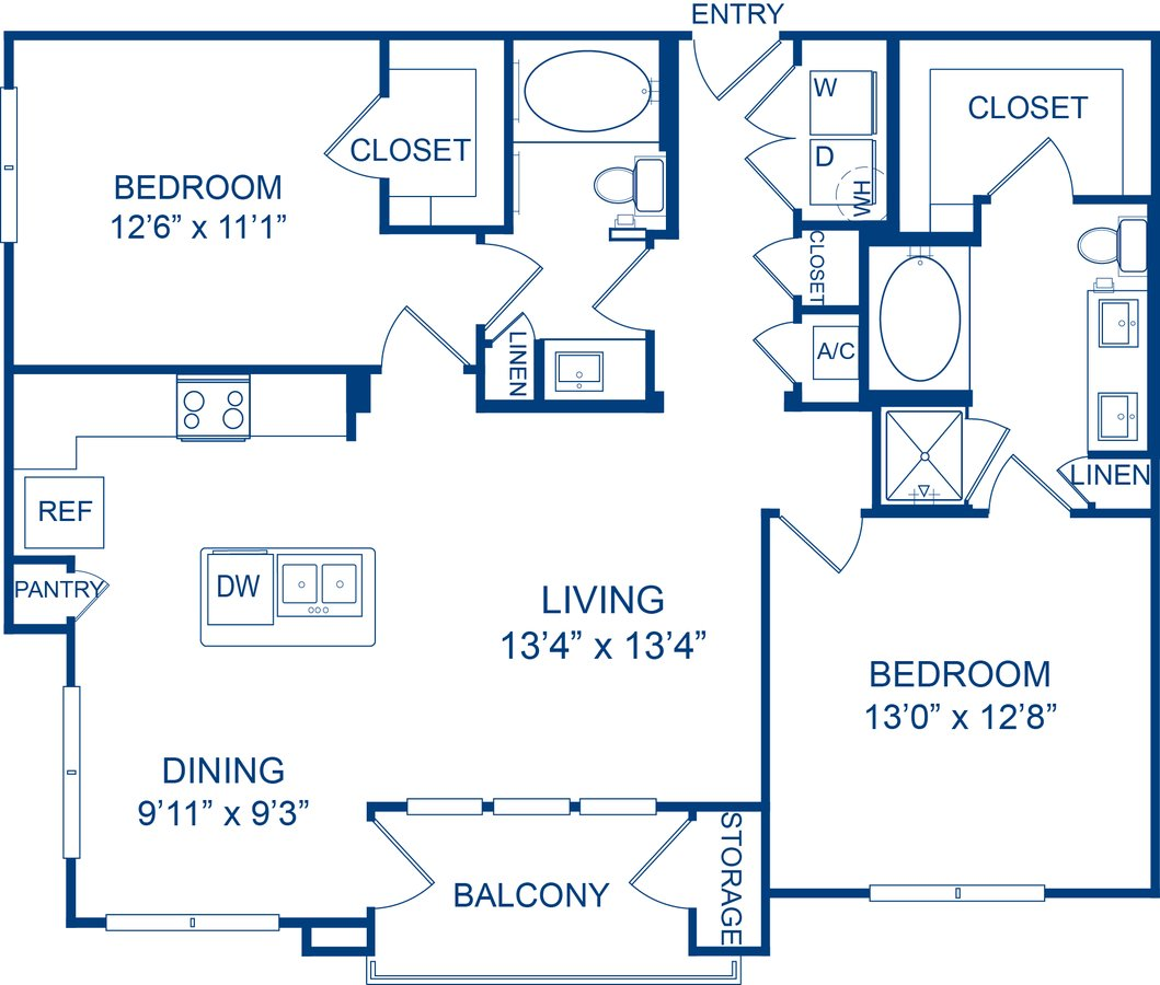 2 Bedrooms 2 Bathrooms Apartment for rent at Camden Lamar Heights in Austin, TX